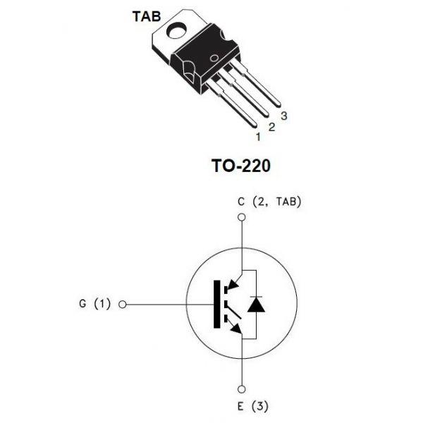 transistor igbt gp10nc60kd