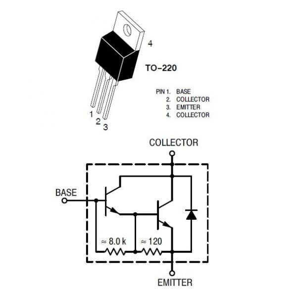 transistor darlington tip102
