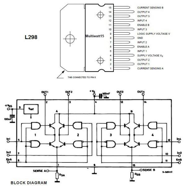Driver puente h completo l298 for La puente motors inc