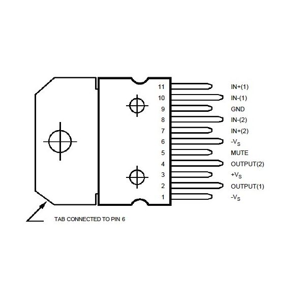 amplificador estereo tda7269