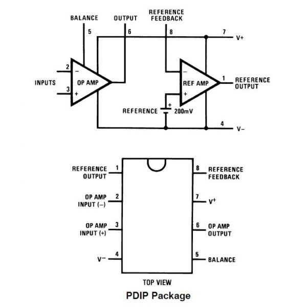 amplificador operacional y referencia lm10cl