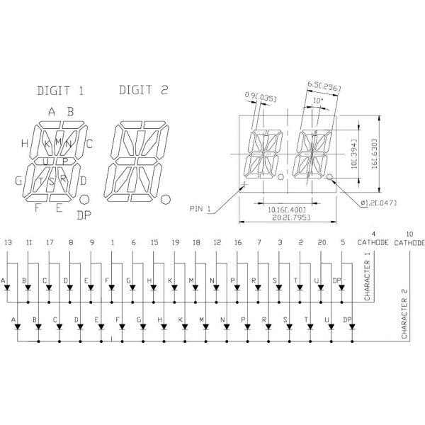 display alfanumerico doble ltp