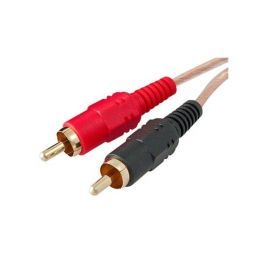 Cable de audio estereo con plugs RCA
