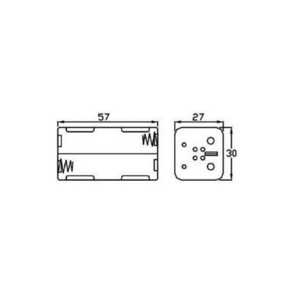 conector para 4 baterias aa bh