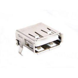 Conector USB tipo A hembra montaje en impreso, angulo recto